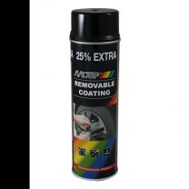 MOTIP SPRAYPLAST 500ML BLACK GLOSS