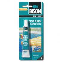 BISON ZACHT PLASTIC LIJM 25ML TUBE + FOLIE KAART
