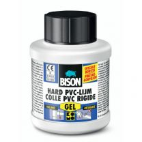 BISON HARD PVC LIJM GEL 250 ML BLIK + KWASTJE