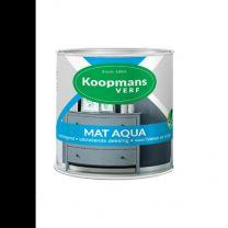 KOOPMANS AQUA MAT 374 ZWART 250 ML