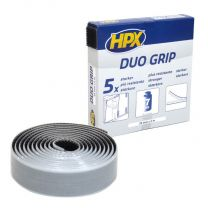 HPX DUO GRIP KLIKBAND - ZWART 25MM X 2M
