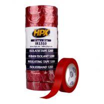 HPX PVC ISOLATIETAPE - ROOD 15MM X 10M