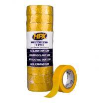 HPX PVC ISOLATIETAPE - GEEL 19MM X 10M