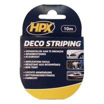 HPX STRIPING 12MM - ZILVER DUBBELE STREEP