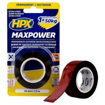 HPX MAX POWER OUTDOOR BEV.TAPE - ZWART 19MM X 5M