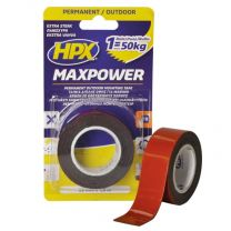 HPX MAX POWER OUTDOOR BEVESTIGINGSTAPE - ZWART 25MM X 1,5M