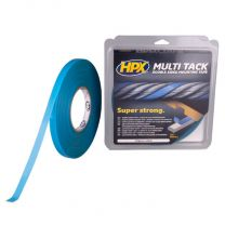 HPX DUBBELZIJDIGE MULTI-TACK TAPE SEMI-TRANSPARANT 12MM X 5M