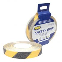 HPX ANTI-SLIP TAPE - ZWART/GEEL 25MM X 18M