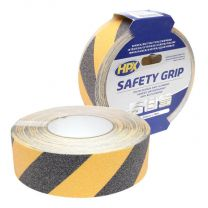 HPX ANTI-SLIP TAPE - ZWART/GEEL 50MM X 18M
