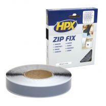 HPX ZIP FIX KLITTENBAND (HAAK) - ZWART 20MM X 5M