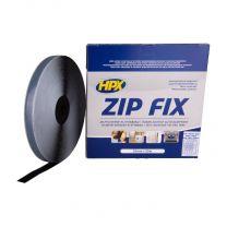 HPX ZIP FIX KLITTENBAND (HAAK) - ZWART 20MM X 25M