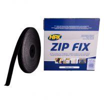 HPX ZIP FIX KLITTENBAND (LUS) - ZWART 20MM X 25M