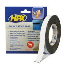 HPX DUBBELZIJDIGE PE BEVESTIGINGSTAPE - ZWART 19MM X 10M